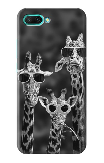 Printed Giraffes With Sunglasses Huawei Honor 10 Case