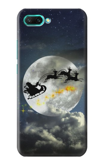 Printed Xmas Santa Night Sky Cloudy Moon Huawei Honor 10 Case