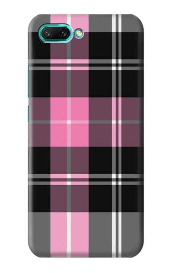 Printed Pink Plaid Pattern Huawei Honor 10 Case