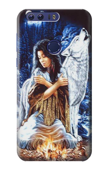 Printed Grim Wolf Indian Girl Huawei Ascend G7 Case