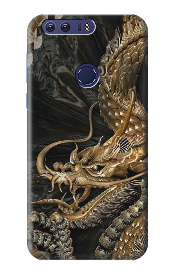 Printed Gold Dragon Huawei Ascend G7 Case