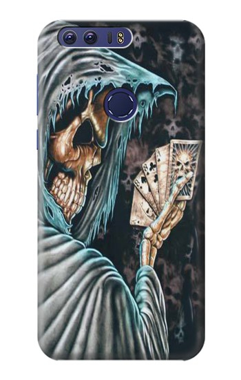 Printed Grim Reaper Death Poker Huawei Ascend G7 Case