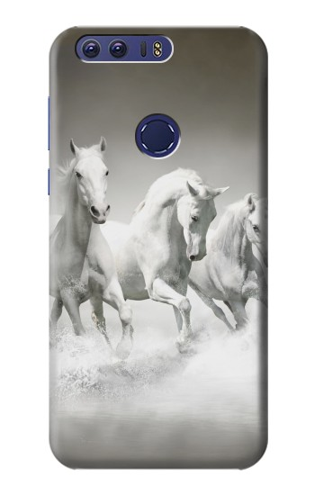 Printed White Horses Huawei Ascend G7 Case