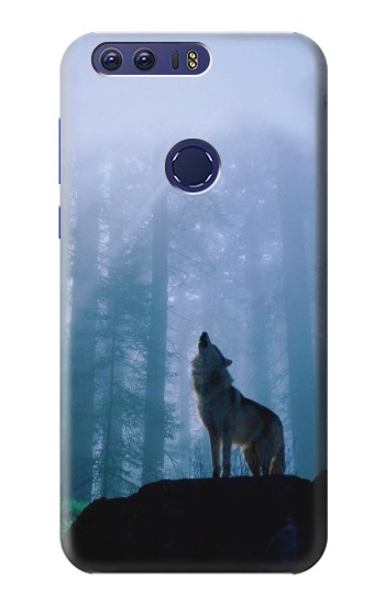 Printed Wolf Howling in Forest Huawei Ascend G7 Case