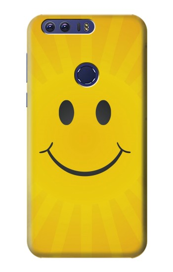 Printed Yellow Sun Smile Huawei Ascend G7 Case