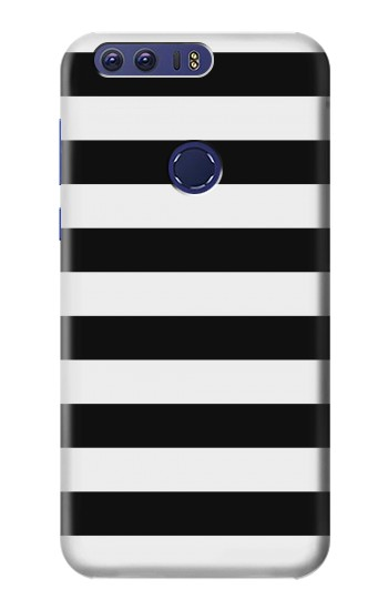 Printed Black and White Striped Huawei Ascend G7 Case