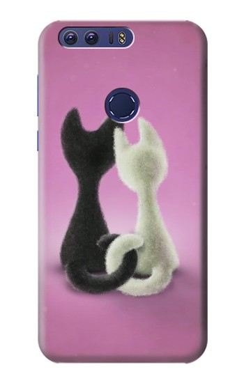 Printed Love Cat Huawei Ascend G7 Case