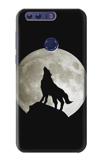 Printed Wolf Howling at The Moon Huawei Ascend G7 Case