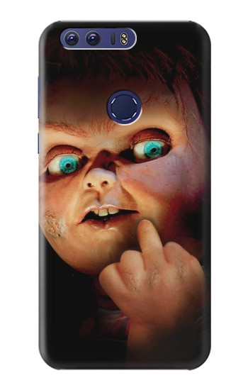 Printed Chucky Middle Finger Huawei Ascend G7 Case