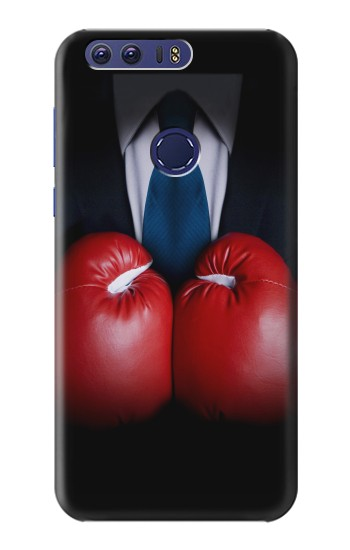 Printed Businessman In Black Suit With Boxing Gloves Huawei Ascend G7 Case