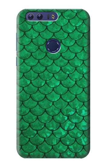 Printed Green Fish Scale Pattern Huawei Ascend G7 Case