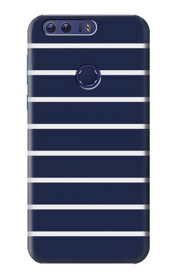 Printed Navy White Striped Huawei Ascend G7 Case