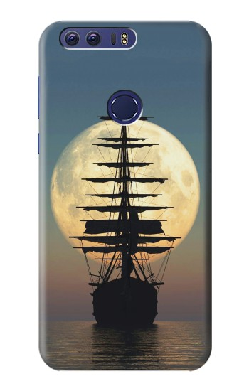 Printed Pirate Ship Moon Night Huawei Ascend G7 Case