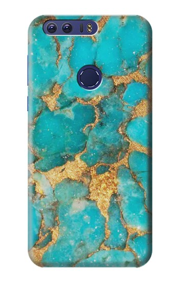 Printed Aqua Turquoise Stone Huawei Ascend G7 Case