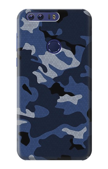 Printed Navy Blue Camouflage Huawei Ascend G7 Case