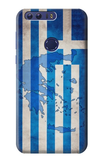 Printed Greece Map Flag Huawei Ascend G7 Case