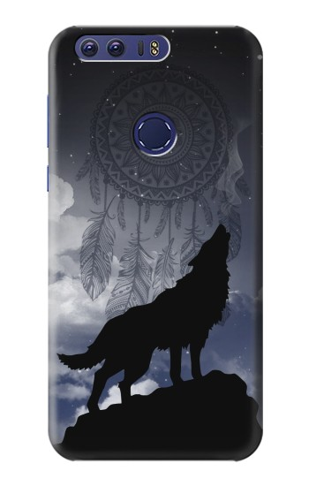 Printed Dream Catcher Wolf Howling Huawei Ascend G7 Case