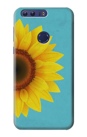 Printed Vintage Sunflower Blue Huawei Ascend G7 Case