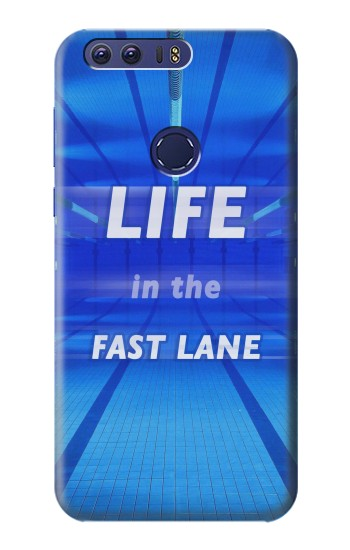 Printed Life in the Fast Lane Swimming Pool Huawei Ascend G7 Case