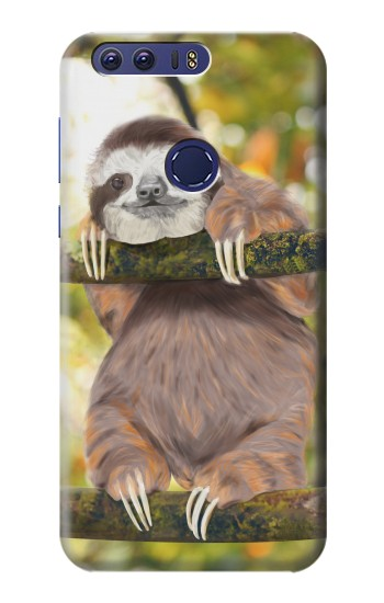 Printed Cute Baby Sloth Paint Huawei Ascend G7 Case