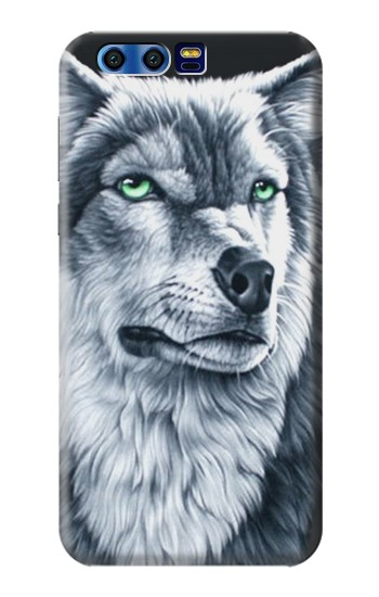 Printed Grim White Wolf BlackBerry Leap Case