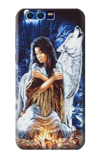Printed Grim Wolf Indian Girl BlackBerry Leap Case