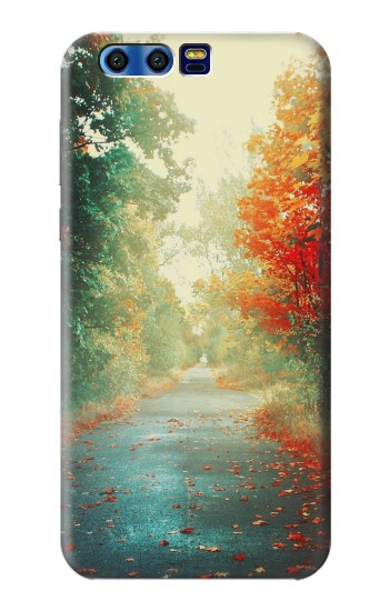Printed Road Through The Woods BlackBerry Leap Case