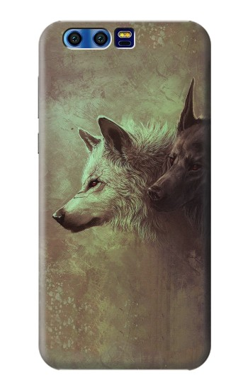Printed White Black Wolf BlackBerry Leap Case