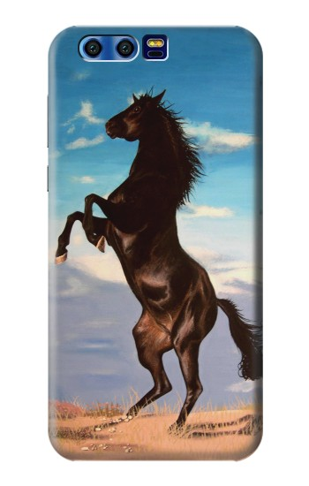 Printed Wild Black Horse BlackBerry Leap Case