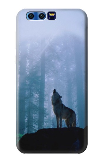 Printed Wolf Howling in Forest BlackBerry Leap Case
