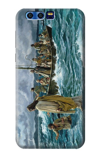 Printed Jesus Walk on The Sea BlackBerry Leap Case