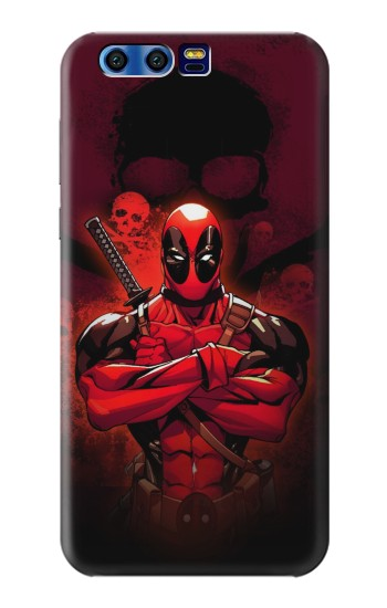 Printed Deadpool Skull BlackBerry Leap Case