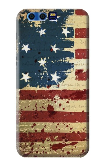 Printed Old American Flag BlackBerry Leap Case