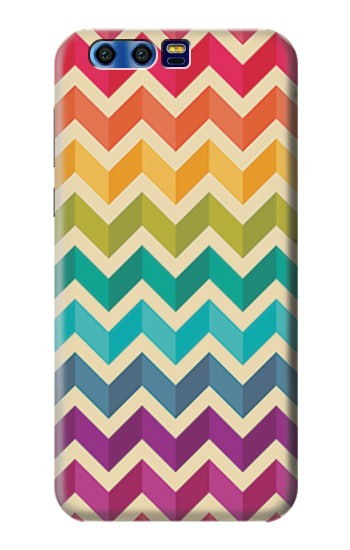 Printed Rainbow Colorful Shavron Zig Zag Pattern BlackBerry Leap Case