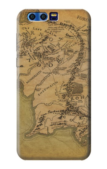 Printed The Lord Of The Rings Middle Earth Map BlackBerry Leap Case