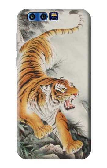 Printed Chinese Tiger Tattoo Painting BlackBerry Leap Case