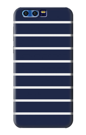 Printed Navy White Striped BlackBerry Leap Case