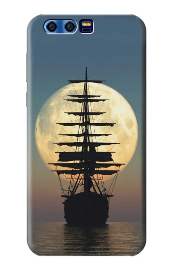 Printed Pirate Ship Moon Night BlackBerry Leap Case