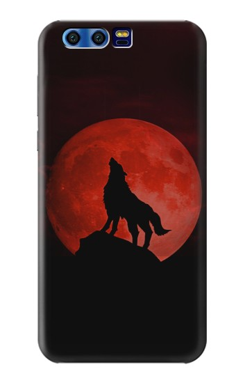 Printed Wolf Howling Red Moon BlackBerry Leap Case