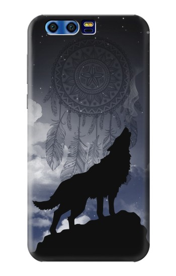 Printed Dream Catcher Wolf Howling BlackBerry Leap Case