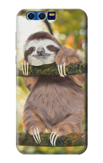 Printed Cute Baby Sloth Paint BlackBerry Leap Case