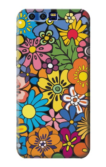 Printed Colorful Flowers Pattern BlackBerry Leap Case