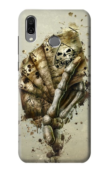 Printed Skull Card Poker Huawei Honor Play Case