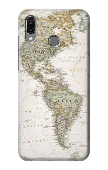 Printed World Map Huawei Honor Play Case