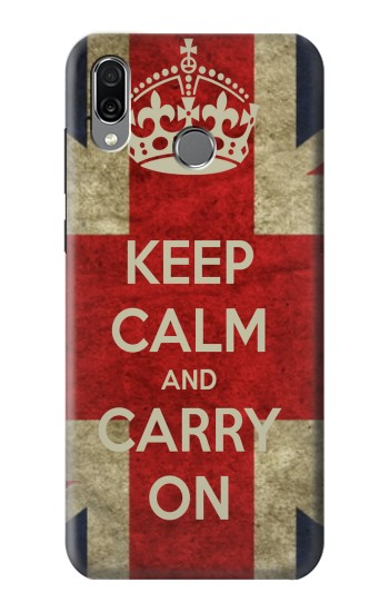 Printed Keep Calm and Carry On Huawei Honor Play Case