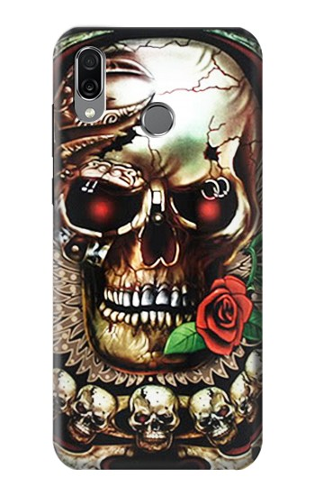 Printed Skull Wing Rose Punk Huawei Honor Play Case