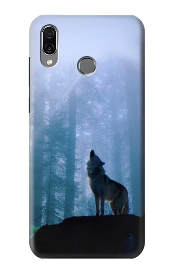 Printed Wolf Howling in Forest Huawei Honor Play Case