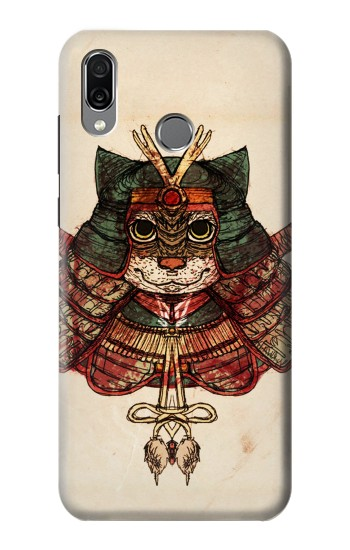 Printed Cat Samurai Huawei Honor Play Case