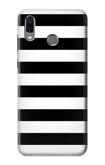 Printed Black and White Striped Huawei Honor Play Case