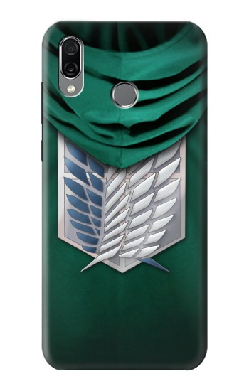 Printed Attack on Titan Scouting Legion Rivaille Green Cloak Huawei Honor Play Case